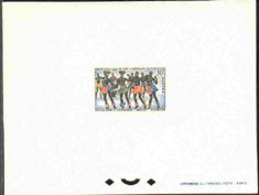CONGO (1964) Diaboua Ballet. Deluxe Sheet. Scott No 114, Yvert No 164. Attractive! - Congo - Brazzaville