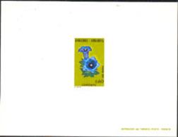 ANDORRA (1975) Gentian. Deluxe Sheet. Scott No 238, Yvert No 245. - Andorra Francese