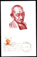 INDIA (1991) Gandhi. 1 Rupee Orange Brown. Maximum Card With 1st Day Cancel. Scott No 916, Yvert No 1085. - Mahatma Gandhi