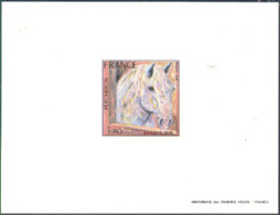 FRANCE (1978) Percheron By Birr. Deluxe Sheet. Scott No 1580, Yvert No 1982. - Luxury Proofs