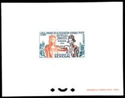SENEGAL (1964) Twin Cities Congress. Deluxe Sheet. Scott No C35, Yvert No PA41. - Senegal (1960-...)