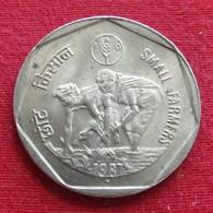 India 1 Rupee 1987 Fao Inde Indien Indies Wºº - Inde