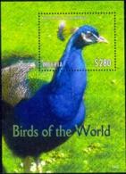 PEACOCKS-BLUE PEAFOWL-PHEASANTS-BIRDS-LLIBERIA-BIRDS OF THE WORLD- MS-MNH-SCARCE-M-167 - Paons
