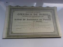 Compagnie Générale Des OMNIBUS DE PARIS (1910) - Hist. Wertpapiere - Nonvaleurs