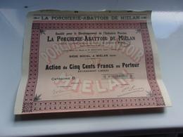 LA PORCHERIE ABATTOIR DE MIELAN (gers) - Hist. Wertpapiere - Nonvaleurs
