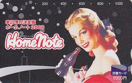 Carte Prépayée Japon COCA COLA  / Poster Jolie Femme - COKE & Girl Japan Prepaid Card - Tosho Karte - 4192 - Japan