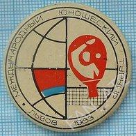 USSR / Badge / Soviet Union / UKRAINE. Table Tennis. Ping Pong International Junior Tournament  Lviv. Lvov 1983 - Tennis Tavolo