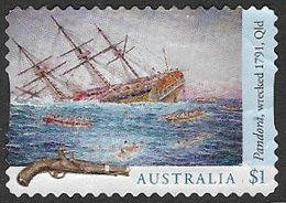 Australia 2017 Shipwrecks $1 Type 1 Self Adhesive Good/fine Used [40/32397/ND] - 2010-... Elizabeth II
