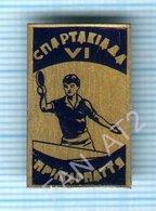 USSR / Badge / Soviet Union / UKRAINE Table Tennis. Ping Pong Games Of The Carpathians. Lviv Lvov 1970s - Tennis Tavolo