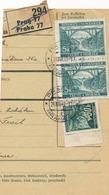 BuM (IMG2016) - Böhmen Und Mähren (1941) Prag 77 - Praha 77 / Hussinetz - Husinec (Postal Parcel Dispach) Tariff 10,50 K - Böhmen Und Mähren