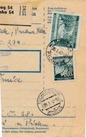 BuM (IMG2029) - Böhmen Und Mähren (1942) Prag 54 - Praha 54 / Tschischow - Cizova (Postal Parcel Dispach) Tariff 5,50 K - Böhmen Und Mähren