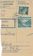 BuM (IMG2031) - Böhmen Und Mähren (1941) Nusslau - Nosislav / Pradubitz 1 - ... (Postal Parcel Dispach) Tariff 5,50 K - Böhmen Und Mähren