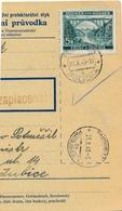 BuM (IMG2035) - Böhmen Und Mähren (1941) Politschka - Policka / Pardubitz 1 - ... (Postal Parcel Dispach) Tariff: 5,00 K - Böhmen Und Mähren