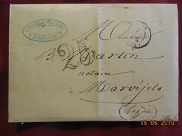 Lettre De 1853 De Salon à Destination De Marvéjols . Grand Chiffre 25 - Postmark Collection (Covers)