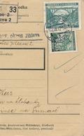 BuM (IMG2043) - Böhmen Und Mähren (1941) Iglau 2 - Jihlava 2 / Hussinetz - Husinec (Postal Parcel Dispach) Tariff 5,50 K - Böhmen Und Mähren
