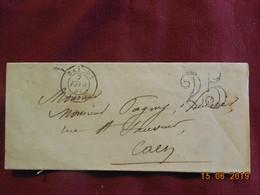 Lettre De 1851 De Bayeux à Destination De Caen . Grand Chiffre . - Postmark Collection (Covers)