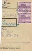 BuM (IMG2046) - Böhmen Und Mähren (1941) Gross-Kostomlat ... - Kostomlaty ... (Postal Parcel Dispach) Tariff: 6,00 K - Böhmen Und Mähren