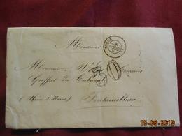 Lettre De 1867 De Rouen à Destination De Fontainebleau -grand Chiffre- - Postmark Collection (Covers)