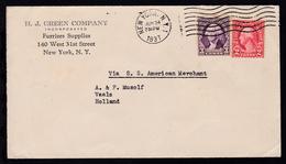 Leitvermerk Via SS American Merchant Auf Brief Ab New York Jun 24 1937  - Briefmarken