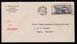 Leitvermerk VIA SS AQUITANIA Auf Brief Ab New York OCT 12 1937 - Briefmarken
