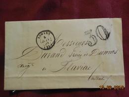 Lettre De 1858 De Romans à Destination De Flaviac -grand Chiffre- - Postmark Collection (Covers)