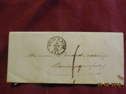 Lettre De 1855 De Arcis/Aube à Destination De Ramerups - Postmark Collection (Covers)