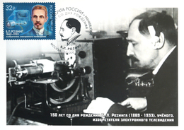 2471 Russia Rozing TV-inventor Maximum Cards 2019 - Cartes Maximum