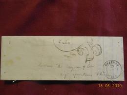 Lettre De 1854 De Paris à Destination De Caen -grand Chiffre- - Postmark Collection (Covers)