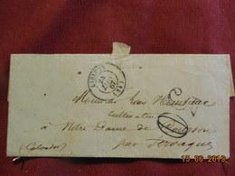 Lettre De 1867 De Lisieux à Destination De Notre-Dame De Courton -grand Chiffre- - Postmark Collection (Covers)