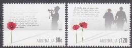 AUSTRALIA, 2011 REMEMBRANCE DAY 2 MNH - Mint Stamps