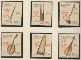 Macau Portugal China Chine 1986 - Instrumentos Musicais Regionais - Musical Instruments - Set Complete - Mint MNH / Neuf - Macau