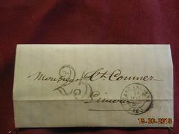 Lettre De 1857 De Carcassonne à Destination De Limoux/Aude -grand Chiffre- - Postmark Collection (Covers)