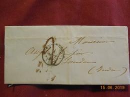 Lettre De 1849 De Chateauroux à Destination De Issoudun (cachet Rouge Au Dos) - Postmark Collection (Covers)