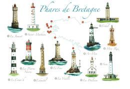 LES 12 PHARES De BRETAGNE : Les Vigies Du Bout Du Monde / CPM NEUVE Impeccable Très Belle Carte +++ - Phares
