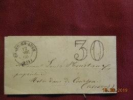 Lettre De 1860 De Paris à Destination De Notre-Dame De Courton- Grand Chiffre- - Postmark Collection (Covers)