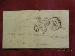 Lettre De 1854 De Pau à Destination De Monou- Grand Chiffre- - Postmark Collection (Covers)