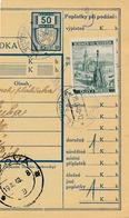 BuM (IMG2062) - Böhmen Und Mähren (1940) Prag 71 - Praha 71 / ... (Postal Parcel Dispach) Tariff: 2,00 K (+ 50 H) - Böhmen Und Mähren