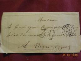 Lettre De 1858 De Lunel à Destination De Nimes - Postmark Collection (Covers)