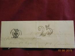 Lettre De 1852 De Caen à Destination De Carcagny -grand Chiffre- - Postmark Collection (Covers)