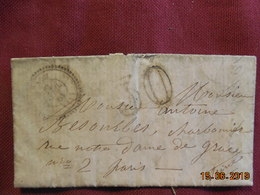 Lettre De 1861 De Gruissac à Destination De Paris -grand Chiffre- - Postmark Collection (Covers)
