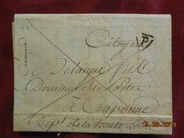 Lettre De 1793 De Cormmurie à Destination De Carpionne - 1701-1800: Précurseurs XVIII