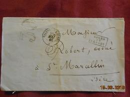 Lettre De 1860 De Valence/Rhone à Destination De St Marcellin -grand Chiffre- - Postmark Collection (Covers)