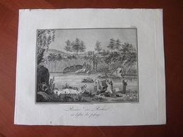 """Réunion : Rare Eau Forte De Bory De Saint-Vincent """"Cascade De La Rivière Des Roches Prise Du Bassin Inférieur"""" (1804) - Historical Documents"""