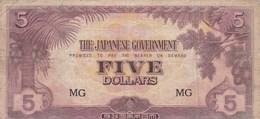 Malaisie - Billet De 5 Dollars - Occupation Japonaise WWII - Malasia