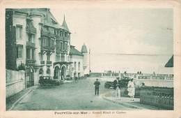 76 Pourville Sur Mer Grand Hotel Et Casino Cpa Carte Animée Vieille Voiture Auto Automobile - France