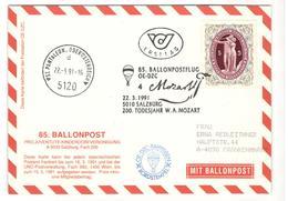 18578 - Ballonpost MOZART - Ballonpost