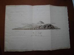 """Iles Canaries Espagne : Rare Eau-forte De 1804 Par Bory De Saint Vincent """"Vue De Ténériffe Par La Pointe De Nago"""" - Historical Documents"""