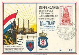Luxembourg - Philatelia Differdange, Centre De La Résistance Luxembourgeoise, 4-6 Août 1945 - Lettres & Documents