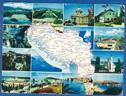 Jugoslawien; Multibildkarte - Jugoslawien