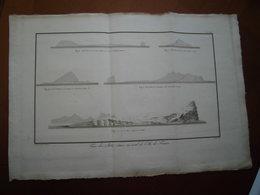 """Ile Maurice Mauritius : Rare Eau-forte De 1804 Par Bory De St Vincent """"Vue Des Ilots Situés Au Nord De L'Ile De France"""" - Historical Documents"""